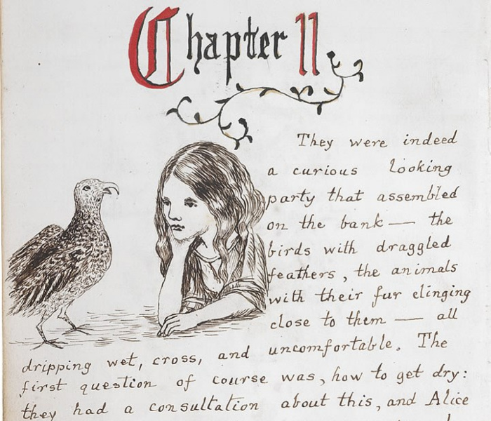 Иллюстрации из книги Алиса в Стране чудес.