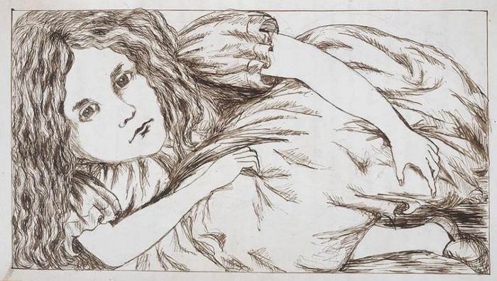Рисунок Люиса Кэролла в рукописи.
