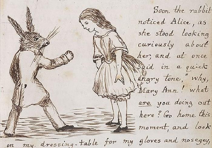 Белый Кролик и Алиса.