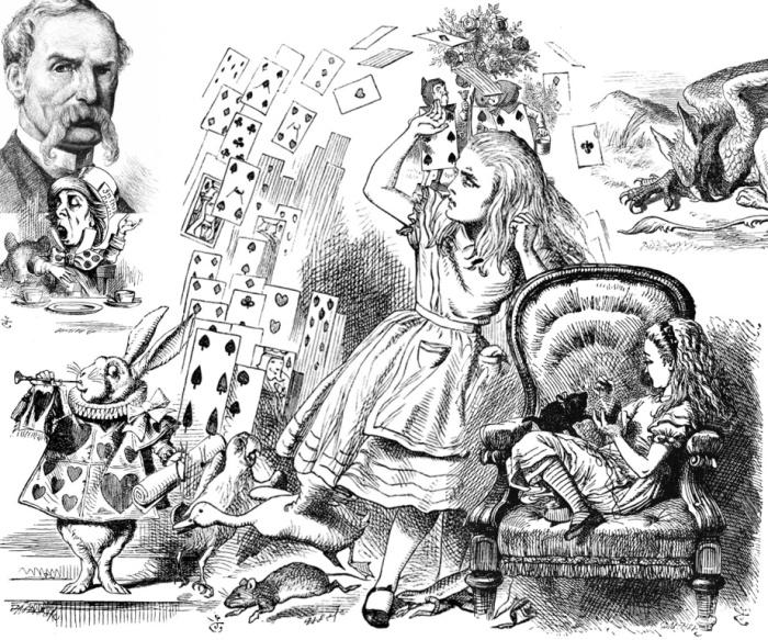 Рисунки Джона Тенниела к книге Алиса в Стране чудес.