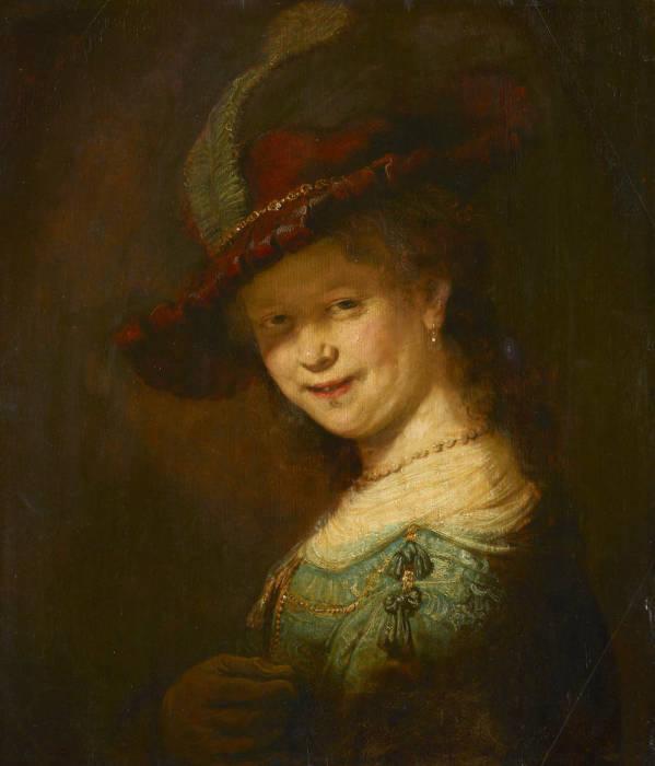 Портрет молодой, смеющейся женщины, Рембрандт. / Фото: wikimedia.org.