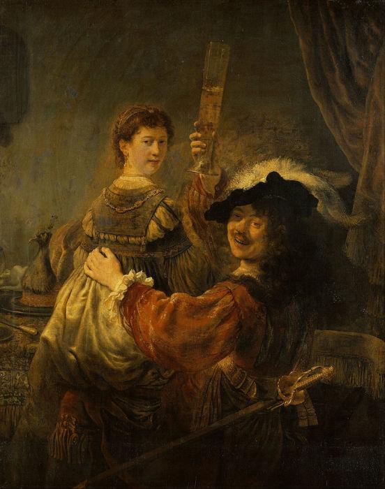 Блудный сын в таверне, Рембрандт. / Фото: ifthenisnow.eu.