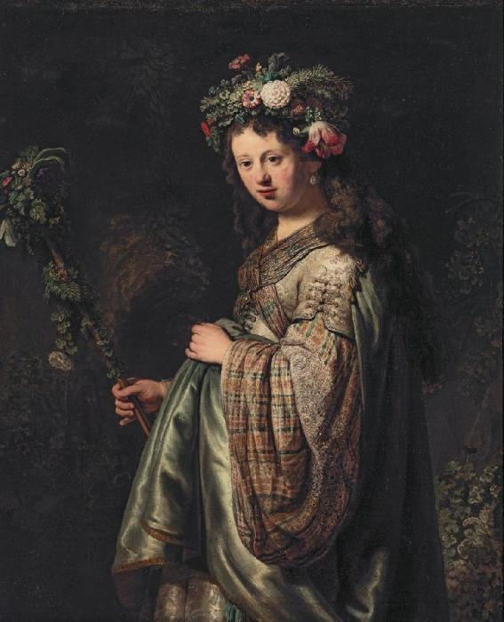 Флора, Рембрандт. / Фото: arthipo.com.
