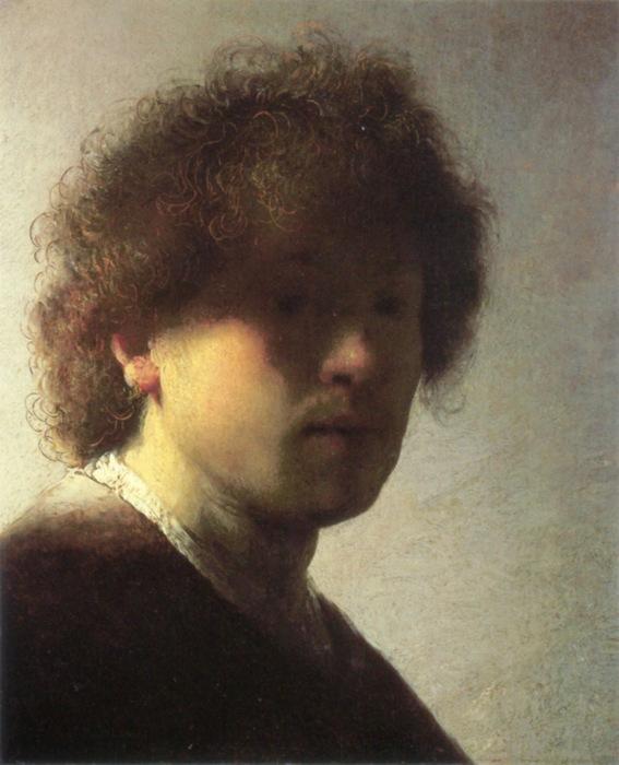 Рембрандт ван Рейн: автопортрет, 1628 год. \ Фото: aylishgiamei.blogspot.com.