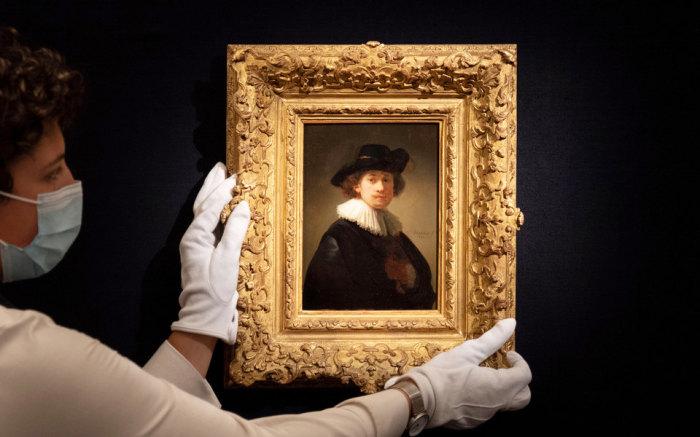 Тот самый рекордсмен: Автопортрет Рембрандта, 1632 год. \ Фото: google.com.