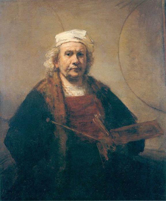 Автопортрет с двумя кругами, 1665-1669 гг. \ Фото: proprofs.com.
