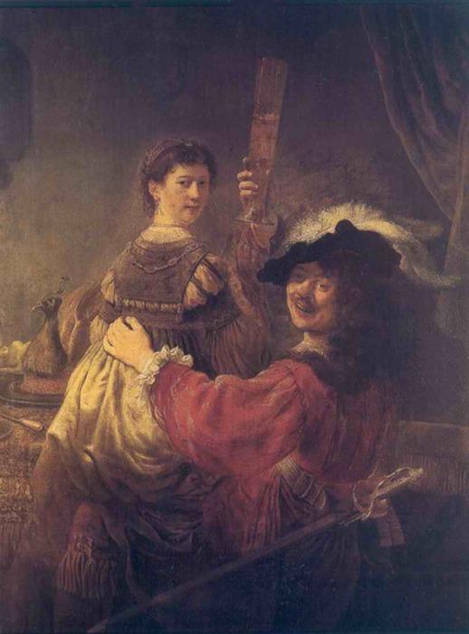 Рембрандт и Саския, 1635 год. \ Фото: yoi-art.at.webry.info.