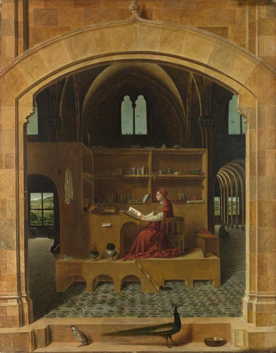 Святой Иероним в своей келье (Антонелло да Мессина). \ Фото: usaartnews.com.