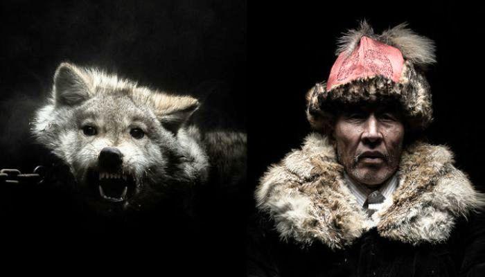 «Боги и звери» Монголии: Впечатляющие фотопортреты людей и животных от молодого французского фотографа