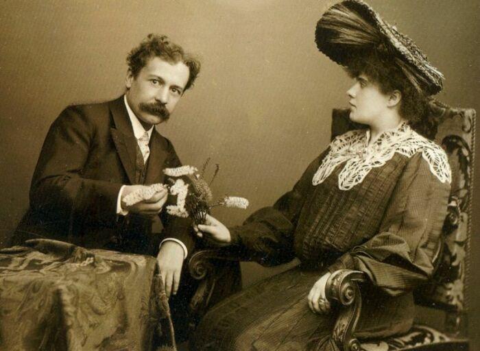 Рене Лалик и его вторая жена, Августина-Алиса Ледрю. \ Фото: in.pinterest.com.