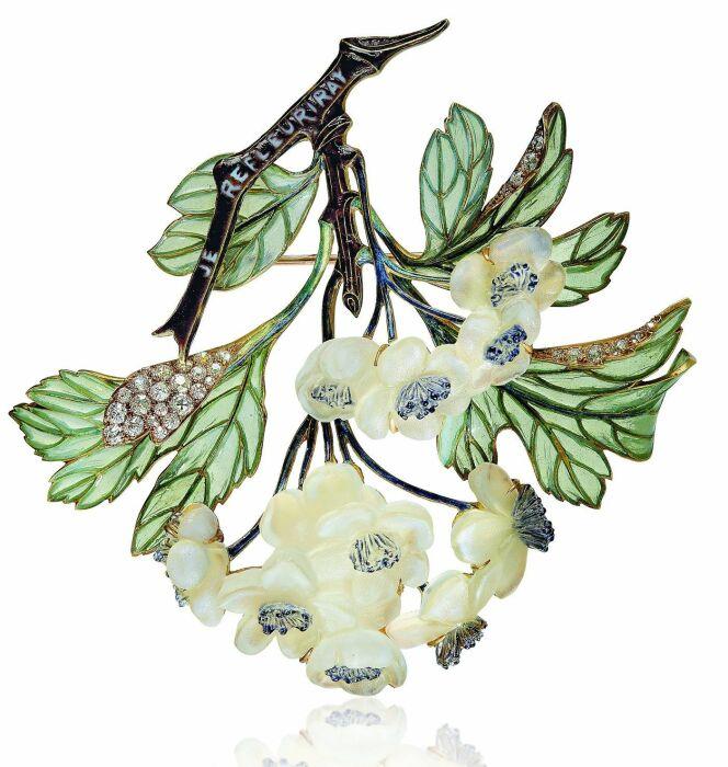 Брошь: бриллианты, стекло, эмаль, 1899-1901 гг. \ Фото: telegraph.co.uk.