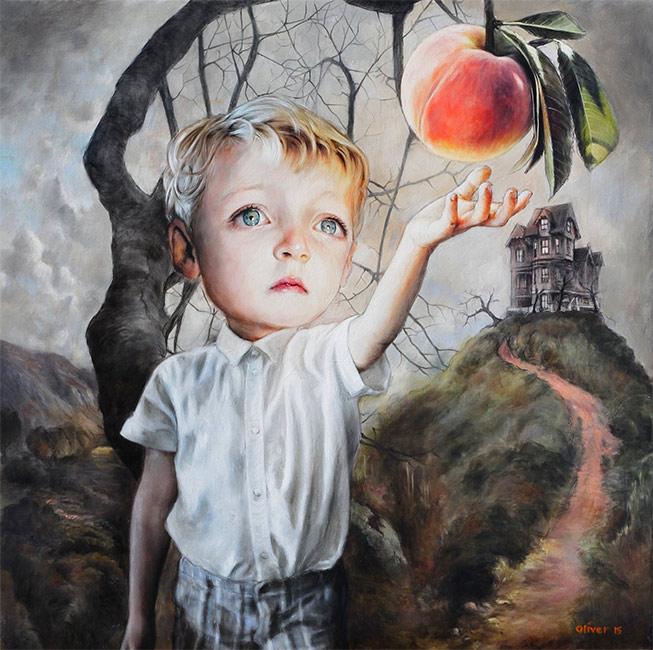 Джеймс и гигантский персик. Автор: Richard J Oliver.