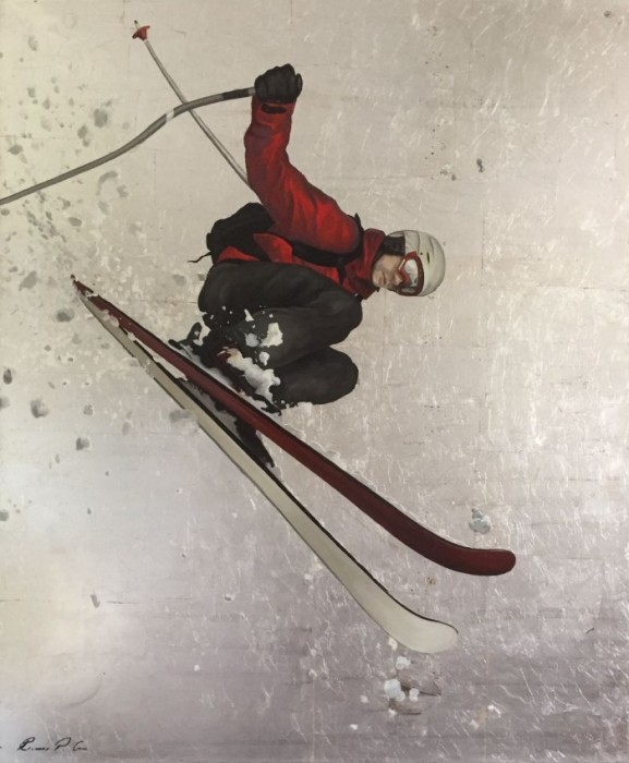 Лыжник. Автор: Richard P Gill.