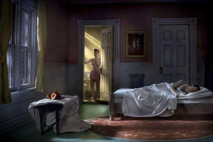Розовая спальня (натюрморт в ночное время). Автор: Richard Tuschman.