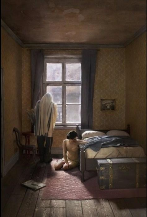 Утренняя молитва. Автор: Richard Tuschman.