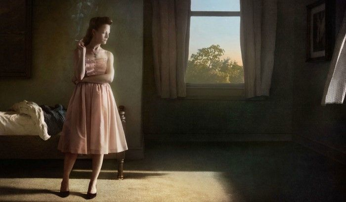 Женщина в солнечных лучах. Автор: Richard Tuschman.