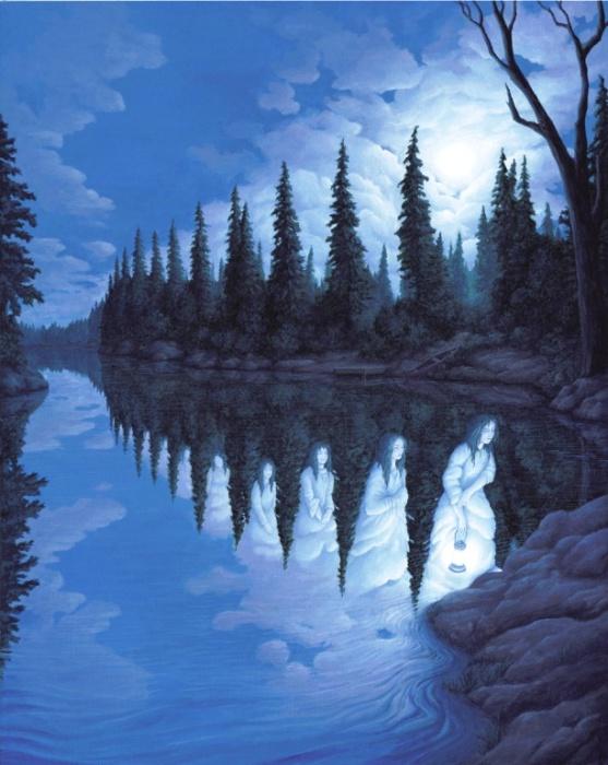 Призрачные девы озера. Rob Gonsalves.