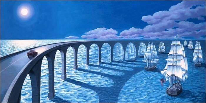 К горизонту. Автор: Rob Gonsalves.