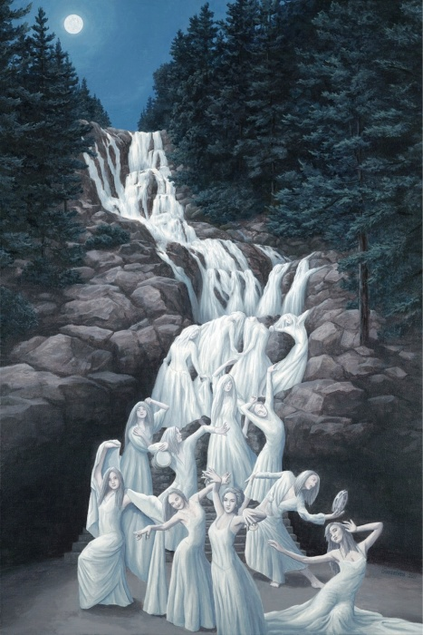 Танец воды. Автор: Rob Gonsalves.