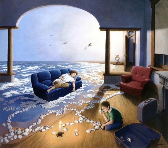 Создавая волны. Автор: Rob Gonsalves.