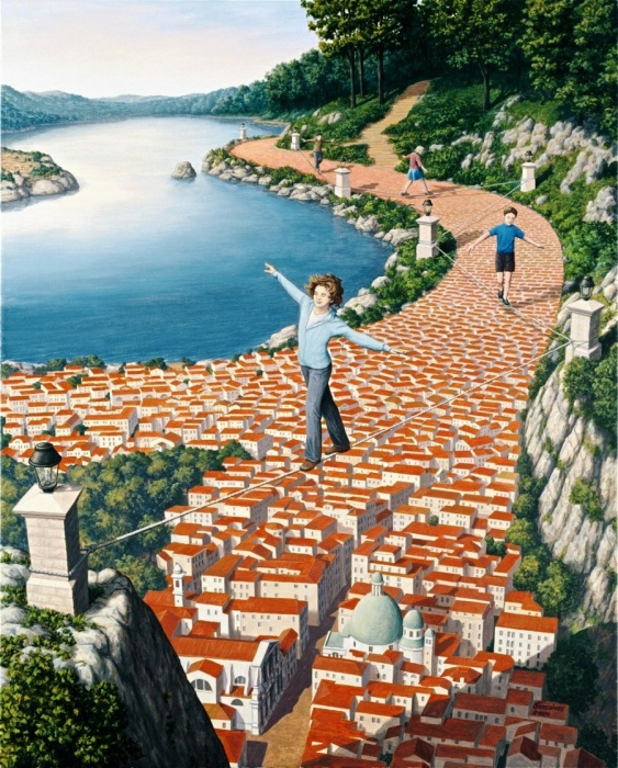 Отважные акробаты. Автор: Rob Gonsalves.