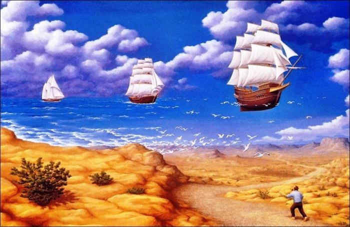 В поисках моря. Автор: Rob Gonsalves.