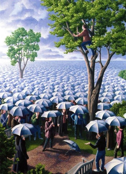 Ожидаются осадки из зонтиков. Автор: Rob Gonsalves.