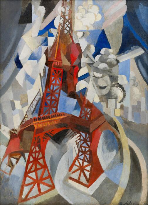 Красная Эйфелева башня, Роберт Делоне, 1911 год. \ Фото: guggenheim.org.