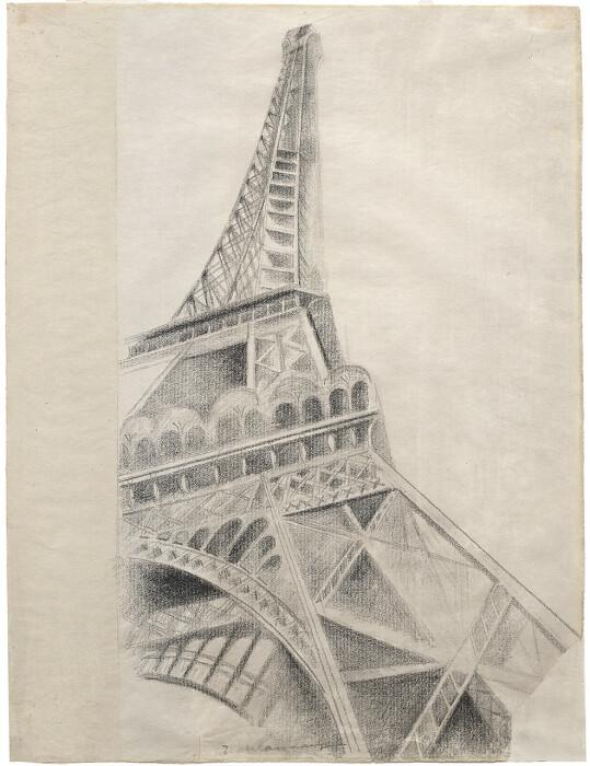 Эйфелева башня скетч,  Роберт Делоне, 1926-28 год. \ Фото: fr.m.wikipedia.org.