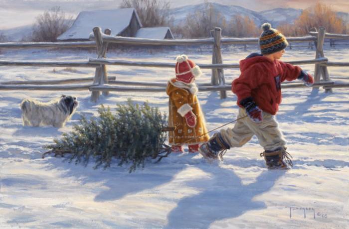 Снег и дети. Автор: Robert Duncan.