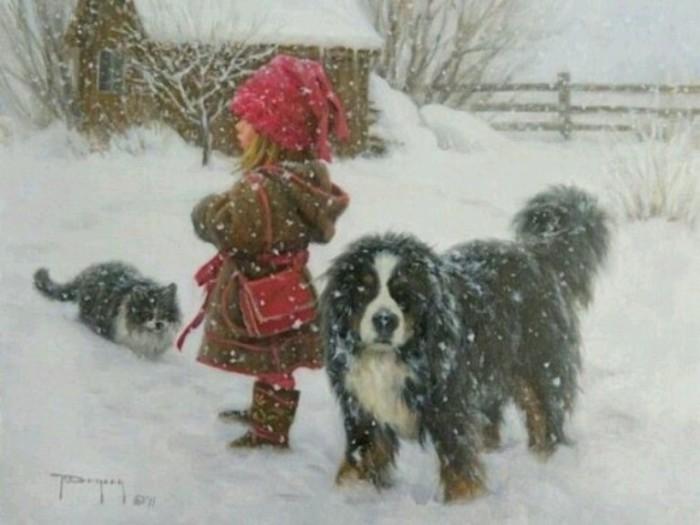 А снег идёт... Автор: Robert Duncan.