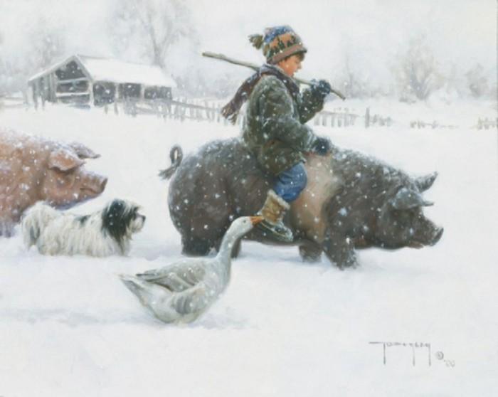 Каникулы в деревне. Автор: Robert Duncan.