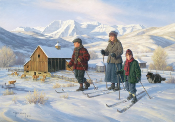 Прогулка на лыжах. Автор: Robert Duncan.