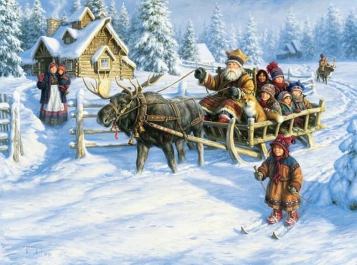 Зимняя сказка в деревне. Автор: Robert Duncan.