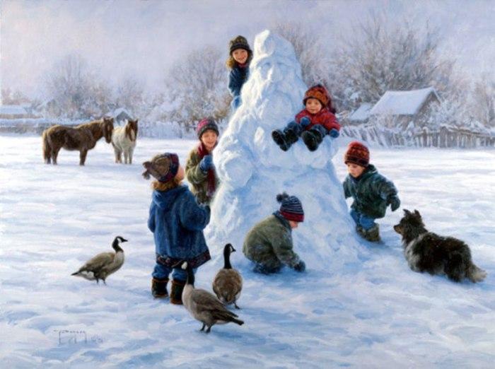 Снежный Дед Мороз. Автор: Robert Duncan.