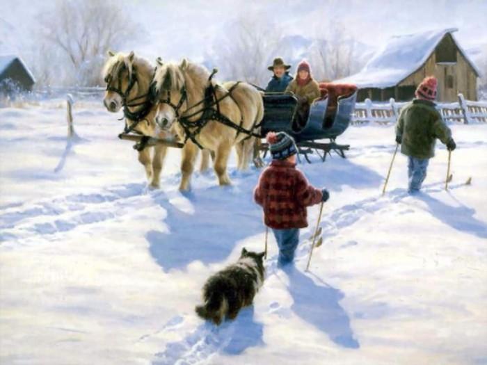 Зимушка, зима, до чего ж ты хороша! Автор: Robert Duncan.