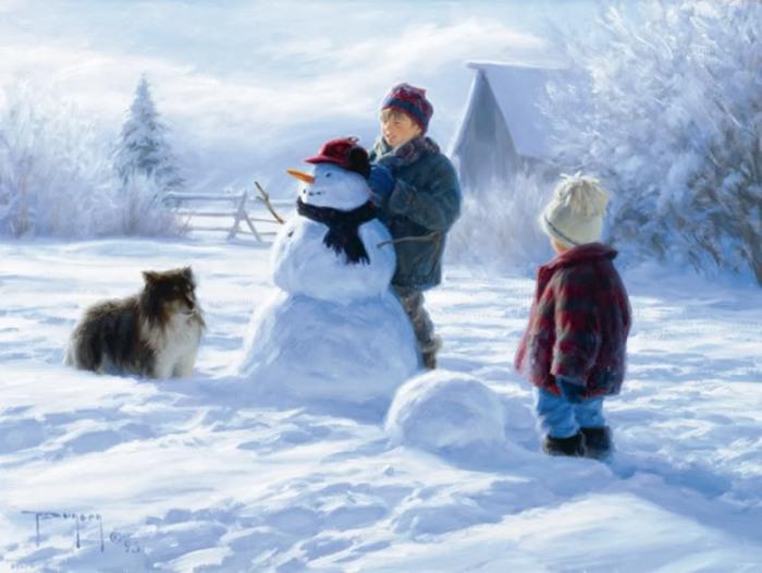 Зима пришла, радость детям принесла. Автор: Robert Duncan.