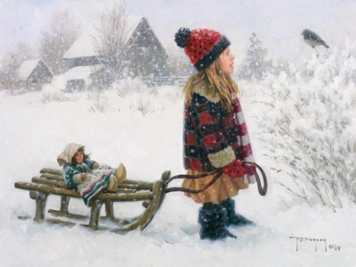 Снегирь. Автор: Robert Duncan.