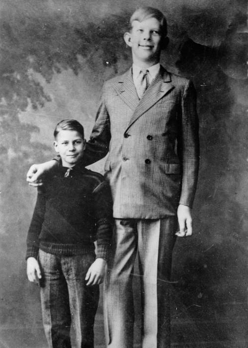 Роберт Уодлоу в возрасте 10 лет, 1928 год.