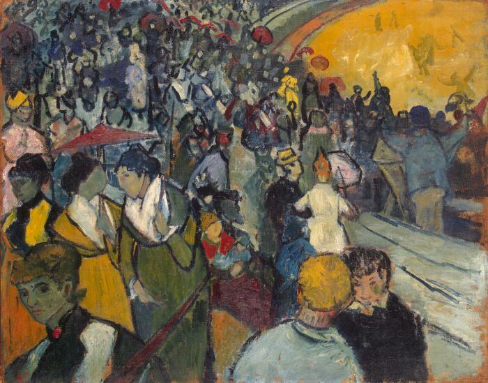 Арена в Арле Винсента Ван Гога, 1888 год. \ Фото: hy.wikipedia.org.