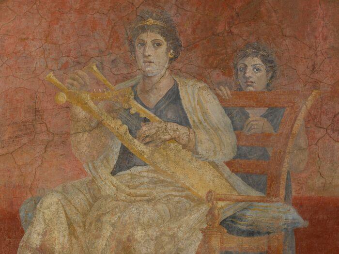 Римская настенная живопись, вилла Фанния Синистра в Боскореале, ок. 50-40 до н. э. \ Фото: pinterest.it.
