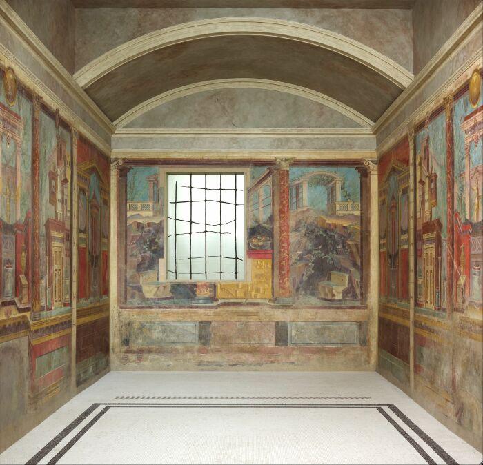 Спальня, вилла Фанния Синистра в Боскореале, ок. 50-40 до н. э. \ Фото: artofit.org.