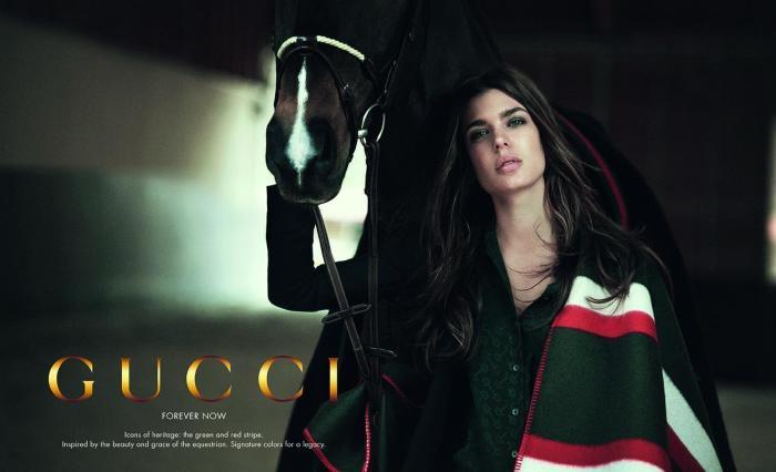 Шарлотта Казигари в рекламной кампании Gucci.
