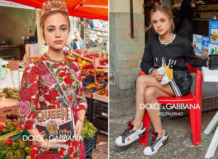 Леди Амелия Виндзор в кампании Dolce&Gabbana FW 2017 год.