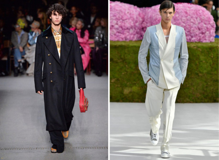 Принц Датский на показе Burberry FW 2018 год. \ Принц Датский на шоу Dior Homme SS 2019 год.
