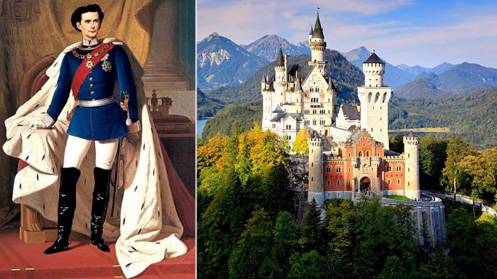 Людвиг Баварский и один из его замков. \ Фото: youtube.com.