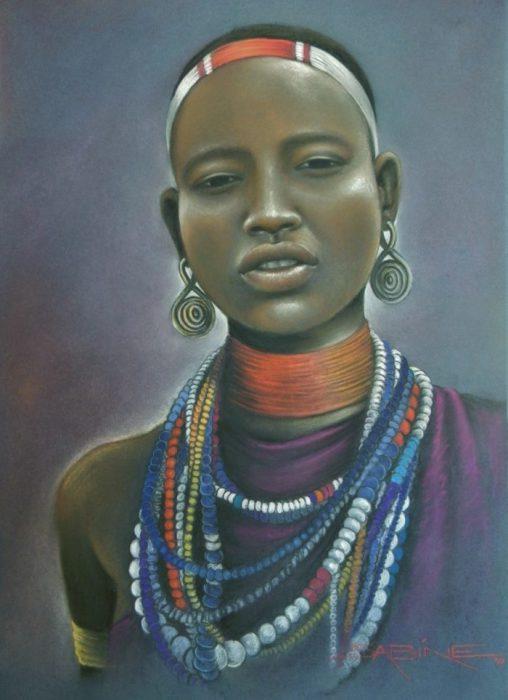 Красота по-африкански. Художник: Сабина Барбэ (Sabine Barber).