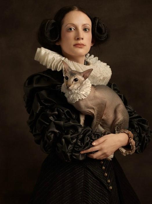 Изысканный фотопортрет женщины от  Sacha Goldberger.