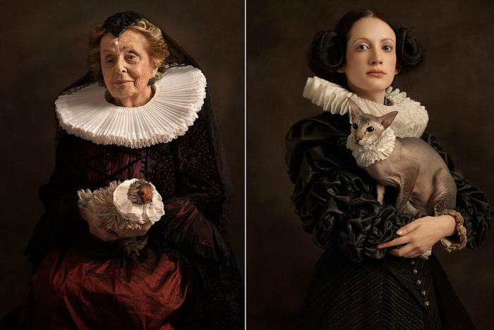 Великолепные портреты в духе работ Рембрандта и фламандской живописи.  Автор фото: Sacha Goldberger.