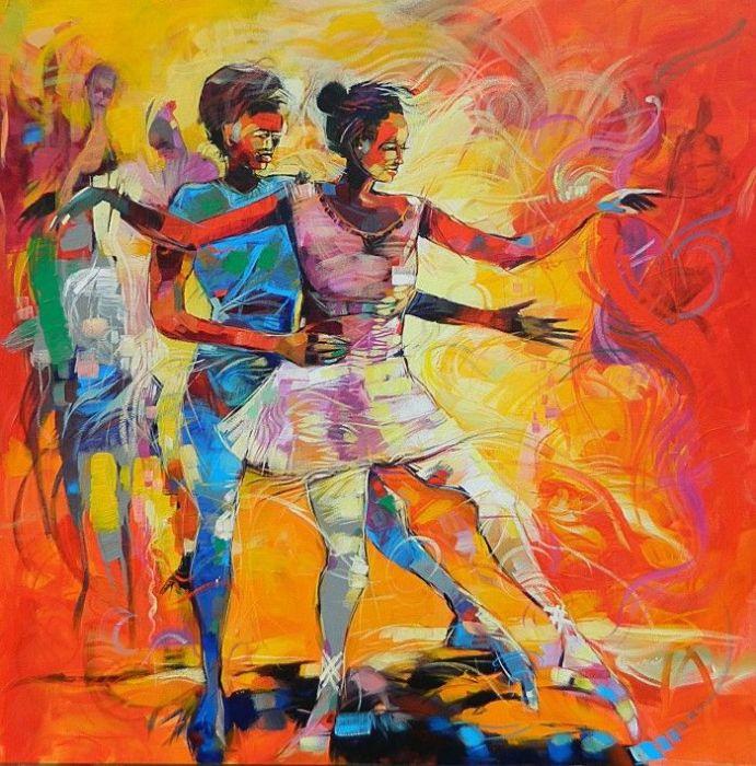 Зажигательный танец. Автор: Said Oladejo-Lawal.
